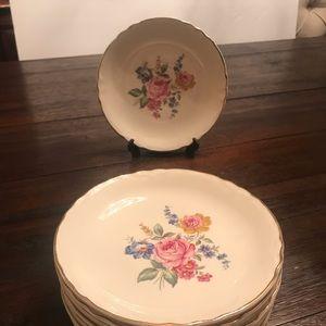 Vintage dessert china plates